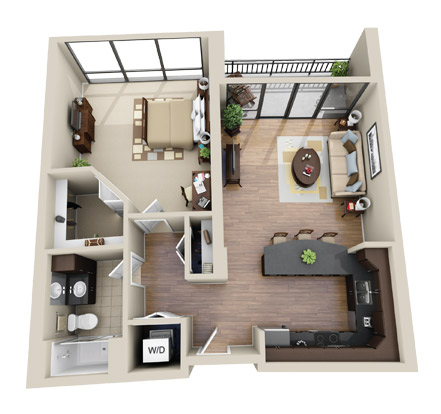 Chicago Suburbs Corporate Housing Floorplan