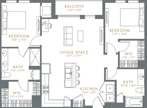 Chicago Suburbs Floor Plan Furnished Apartments
